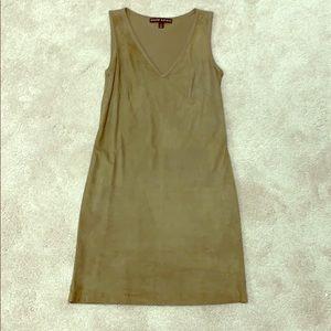 Ralph Lauren Suede and Cashmere Dress